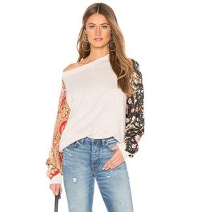 Free People Long Sleeve Patterned Sweater